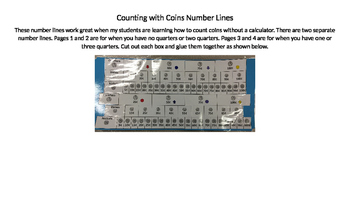 Counting Coins Number Line