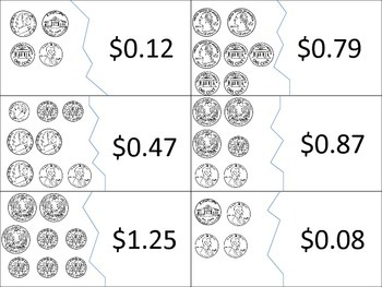 Counting Coins Number Puzzles