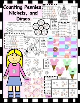 Counting Coins Pack (Dimes, Nickels, and Pennies)