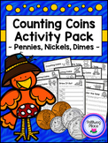 Counting Coins - Pennies, Nickels, Dimes - Fall