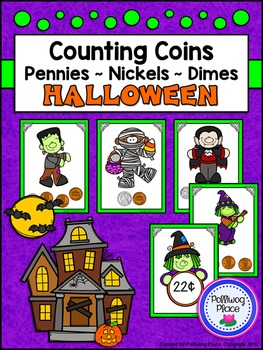Counting Coins: Pennies - Nickels - Dimes (Halloween Money)