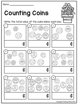 Counting Coins - Pennies, Nickels, Dimes - Spring