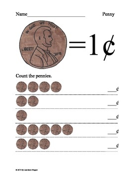 Counting Coins - Pennies, Nickels, and Dimes Worksheets