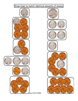 Counting Coins Poetry/Math Acitivity