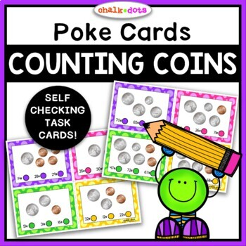 Counting Coins Poke Cards