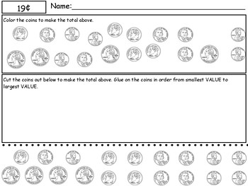Counting Coins Practice Packet