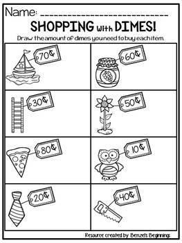 Money Worksheets {Dimes}