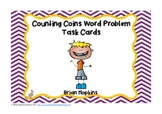 Counting Coins Problem Solving Task Cards