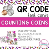 Counting Coins QR Code Task Cards