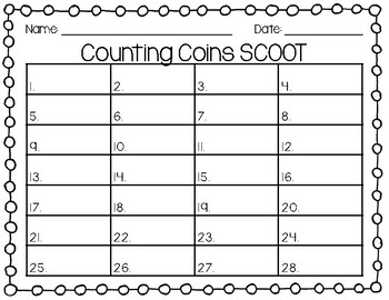 Counting Coins SCOOT