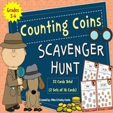 Counting Coins Scavenger Hunt {Pennies, Nickels, Dimes & Quarters}