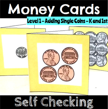 Money Counting Coins Self Checking Cards Bundle
