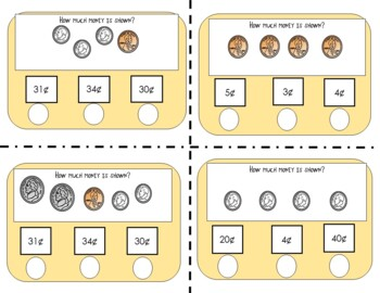 Counting Coins--Self-Checking Practice