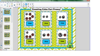 Counting Coins Smartboard Flash Cards
