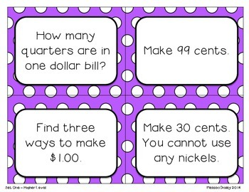 Counting Coins {Task Cards}