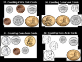 Counting Coins Over A Dollar Task Cards (36 Cards)