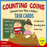 Money Task Cards {Counting Coins with Amount Less Than a Dollar}