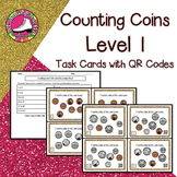 Counting Coins Task Cards - Level 1