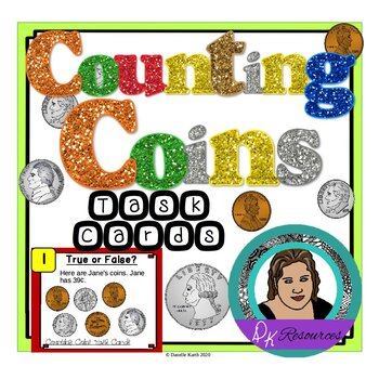 Counting Coins Task Cards - Have Students Practice Counting Change!