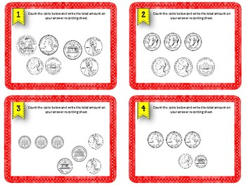 Counting Coins. Task Cards. Math Center. Counting Change