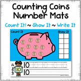 Counting Coins Task Cards Number Mats ~ Numbers 1-20