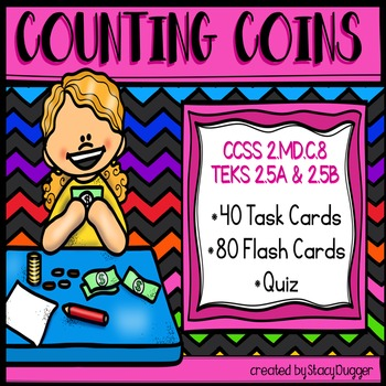 Counting Coins Task Cards (U.S. Coins)