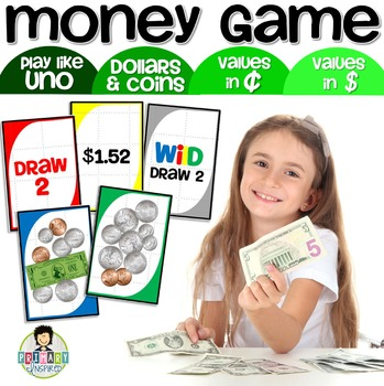 Counting Money Uno-Inspired Money Game Dollars & Coins