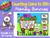Counting Coins Up to 100¢ - Money Bunnies (Easter)