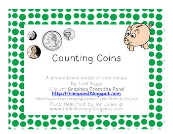 Counting Coins, Using a Proportional Manipulative Model