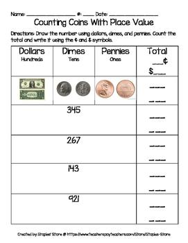 Counting Coins With Place Value