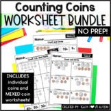 Counting Coins Worksheet Bundle