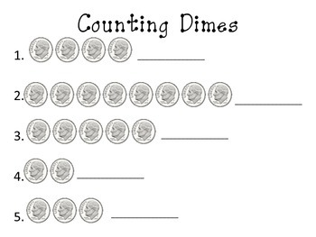MONEY: Counting Coins Worksheet Bundle: Part One