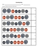Counting Coins Worksheet (Mixed Coins, Real Pictures)