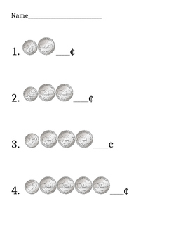 Counting Coins Worksheet Packet