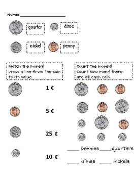 Counting Coins - Worksheets