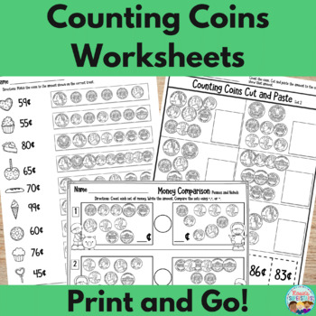 Counting Nickels Worksheet Teaching Resources | Teachers Pay Teachers