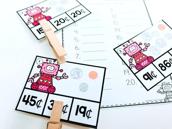 Counting Coins Task Cards and Worksheets