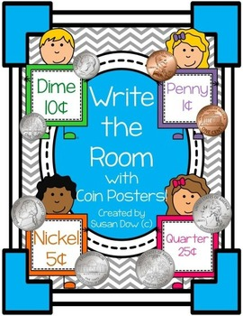 Counting Coins Write the Room & Coin Posters