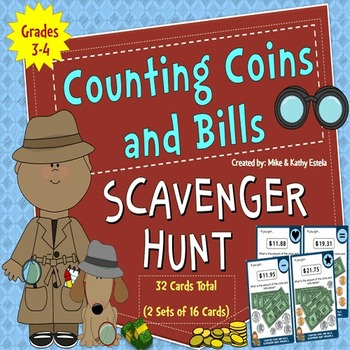 Counting Coins and Bills Scavenger Hunt