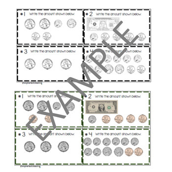 Counting Coins and Making Money Task Cards/Scoot Game