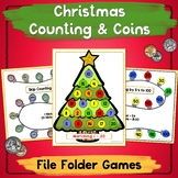 Coins and Numbers File Folder Games CHRISTMAS THEME