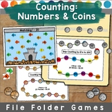 Counting and Coins File Folder Games