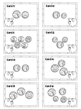 Counting Coins: Add Money MATH STATIONS