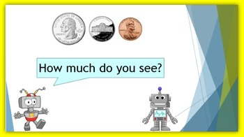 Money:  Counting Coins in Five Minutes - with 2 or 3 coins