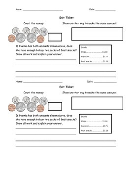 Counting Coins in Story Problems Differentiated Lesson