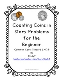 Counting Coins in Story Problems for Beginners