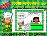 Counting Coins to 100¢ - Leprechaun Bakery (BOOM CARDS)