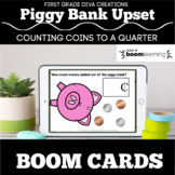 Distance Learning | Counting Coins to a Quarter | Boom Cards