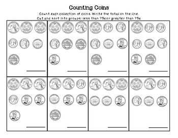 Counting Coins (up to $1)