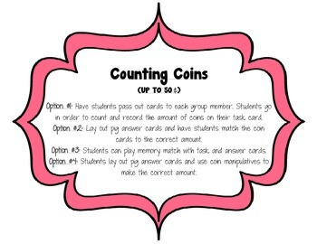 Counting Coins up to 50 Cents